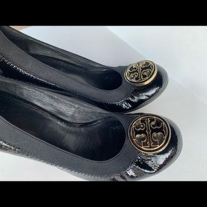 Tory Burch Black wedges size 5.5